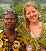 Apollo and Cindy Panou, owners of the Sunbird Lodge in Accra