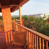 The view from the balcony of the Sunbird Lodge in Accra